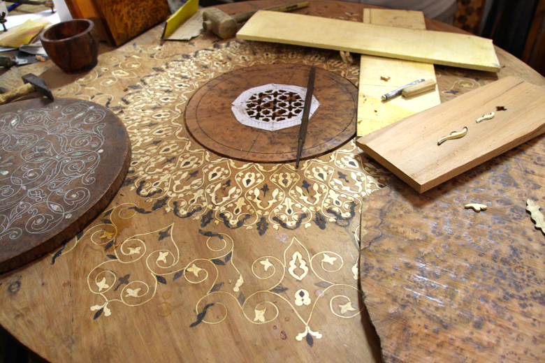 wood inlaid wood