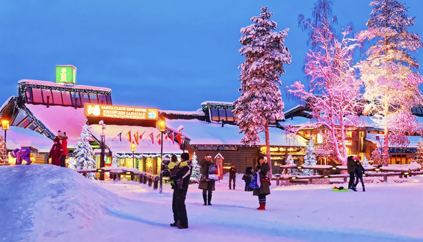 Santa Claus office in Rovaniemi town that is in Finland in Lapla