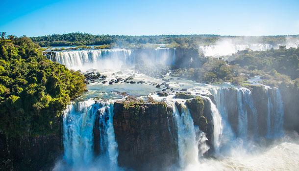 South America waterfall