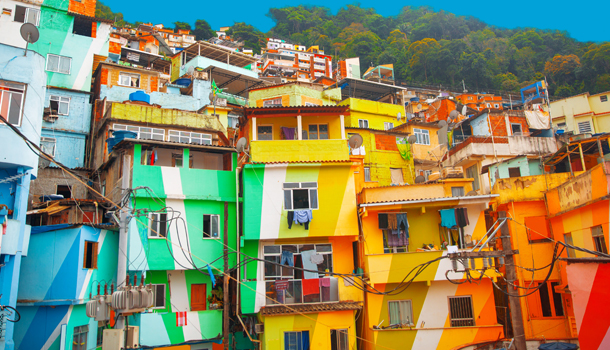 Santa marta colourful favelas