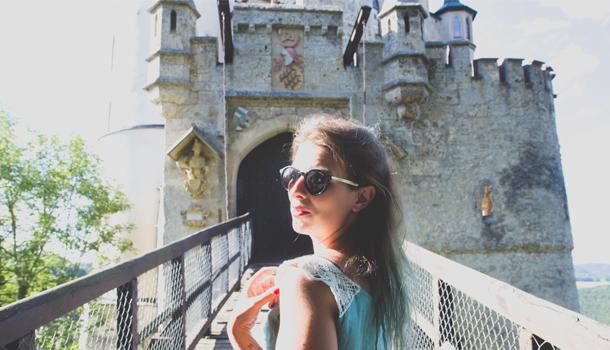 Lichtenstein Castle with author