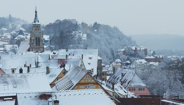 Hohentübingen Castle in Winter