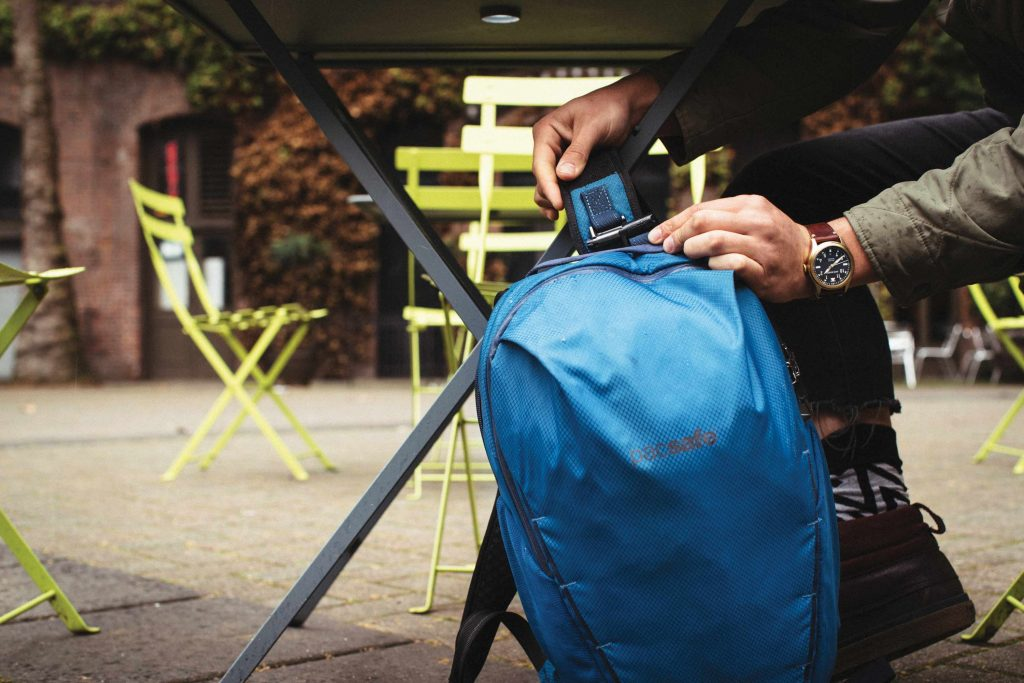 Pacsafe anti-theft pickpocket proof backpacks help protect your gear