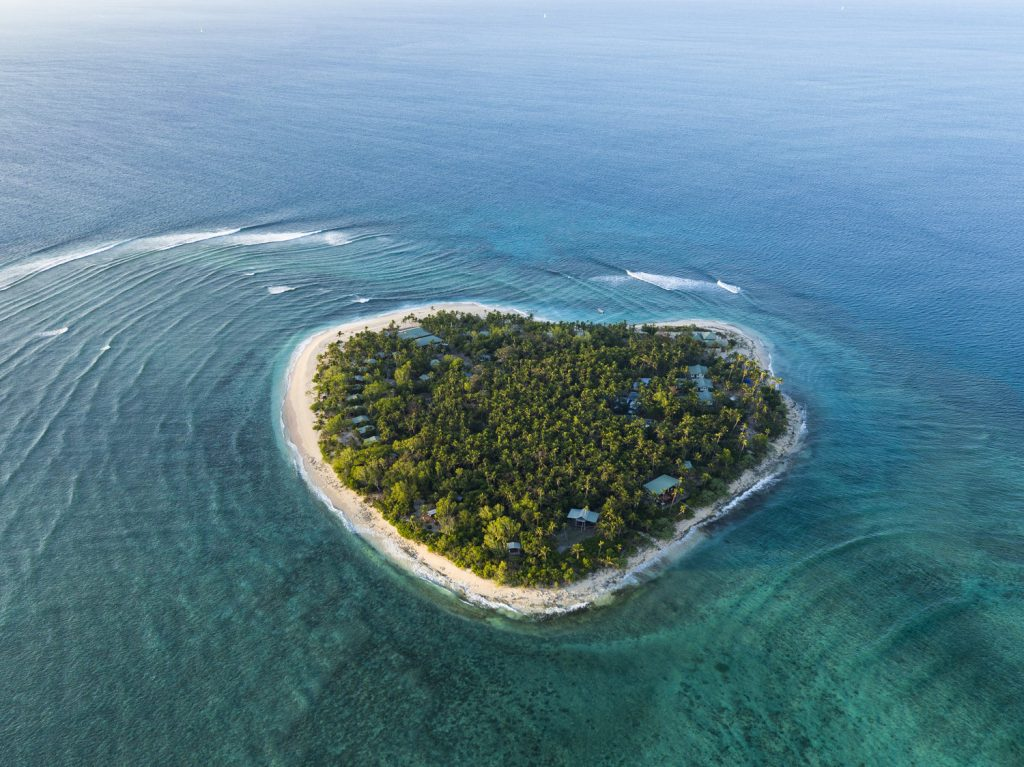 Heart shaped island in Fiji