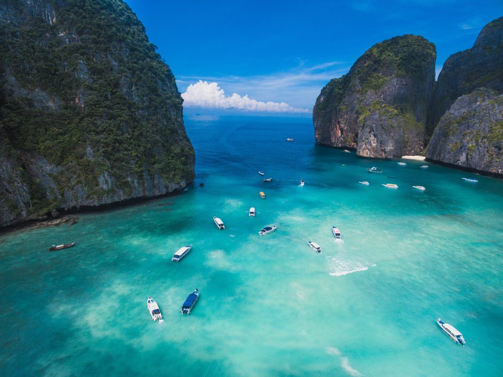 Maya Bay is renowned for its crystal clear water
