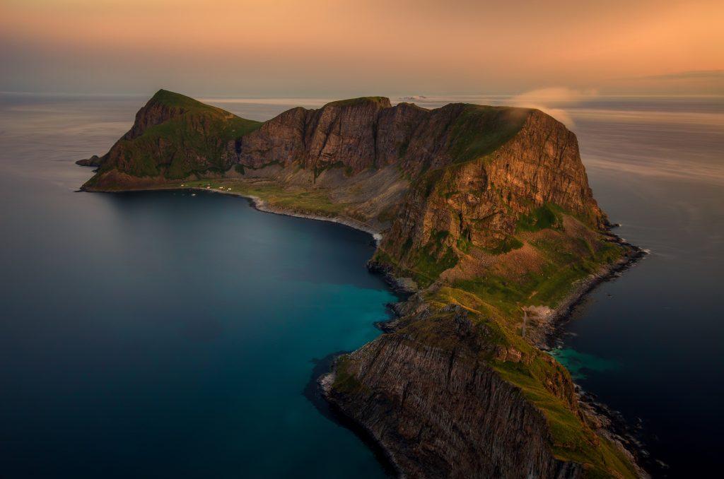 The clear ocean water in the lofoten islands norway is stunning